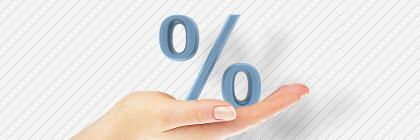 Hand, Prozentzeichen