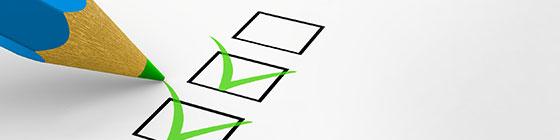 Unterlagen zur Baufinanzierung - Liste Abgehakt