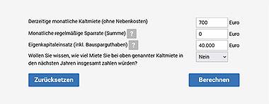 Zinskurven zur Baufinanzierung