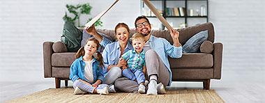 Anschlussfinanzierung, Prolongation, Familie, Haus