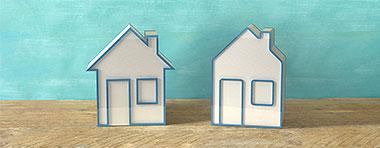 Zwei Häuser