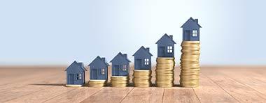 Häuser, Geldstapel