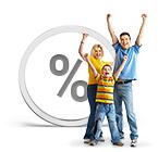 Prozentzeichen, Familie
