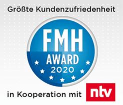 """""""Größte Kundenzufriedenheit"""" beim FMH-Award 2020"""