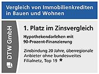 1. Platz im Zinsvergleich in Stiftung Warentest Finanztest 04/2021.