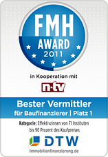FMH-Award für DTW-Immobilienfinanzierung 2011