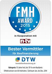 FMH-Award für DTW-Immobilienfinanzierung 2015