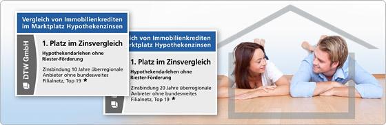 Zweimal 1. Platz in Stiftung Warentest Finanztest für DTW-Immobilienfinanzierung