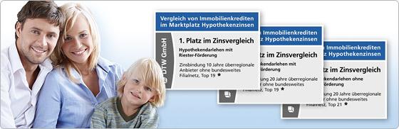 Dreimal 1. Platz in Stiftung Warentest Finanztest für DTW-Immobilienfinanzierung