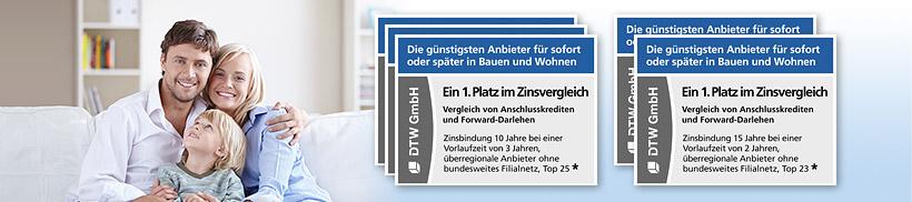 Fünfmal ein 1. Platz in Stiftung Warentest Finanztest für DTW | Immobilienfinanzierung